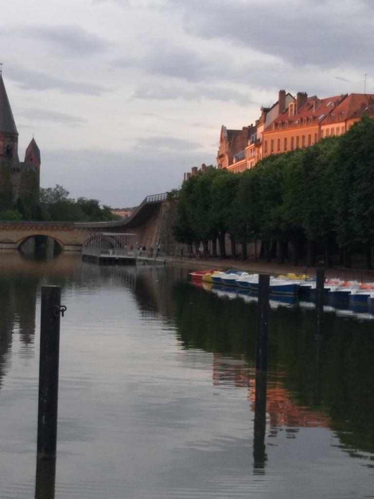 coucher de soleil sur Metz