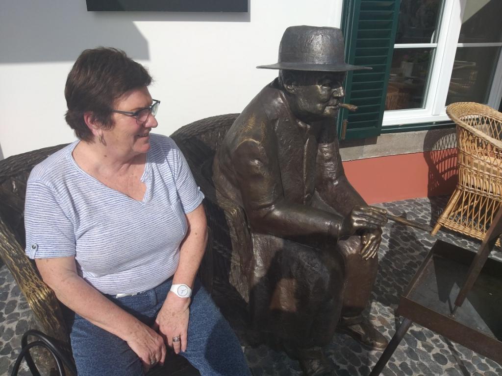 Viviane avec Churchill