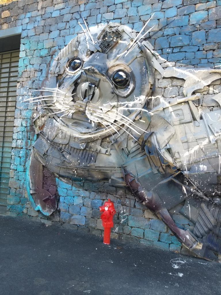 sculpture au port