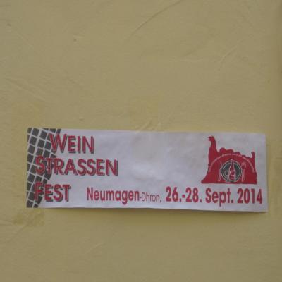 2014- WEINSTRASSEN  FEST NEUMAGEN-DHRON