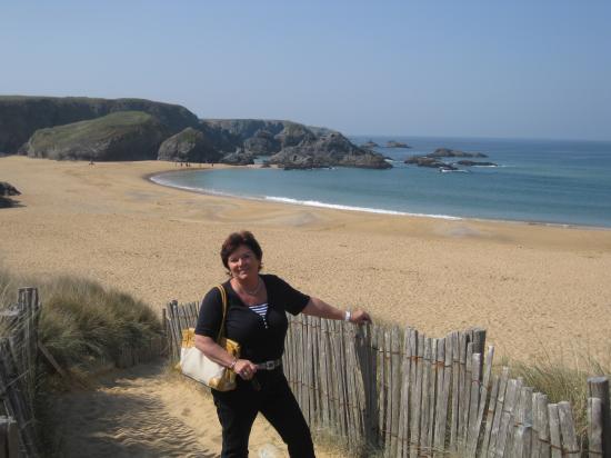 Viviane à la plage du Donnant