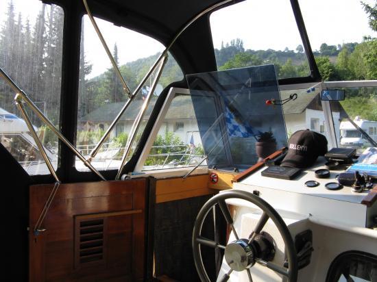 Vue intérieure du cockpit