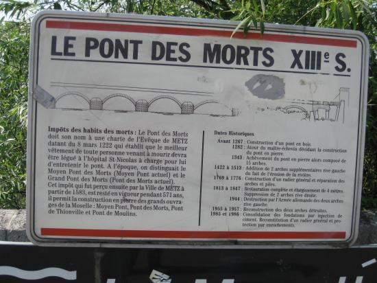 LE PONT DES MORTS- METZ