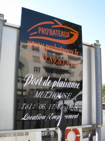 ENTRÉE PORT DE PLAISANCE DE MULHOUSE
