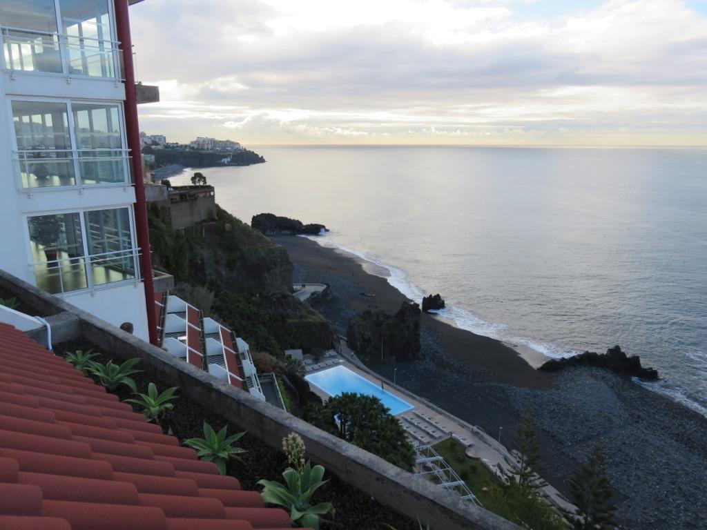 vue de notre hôtel sur la mer