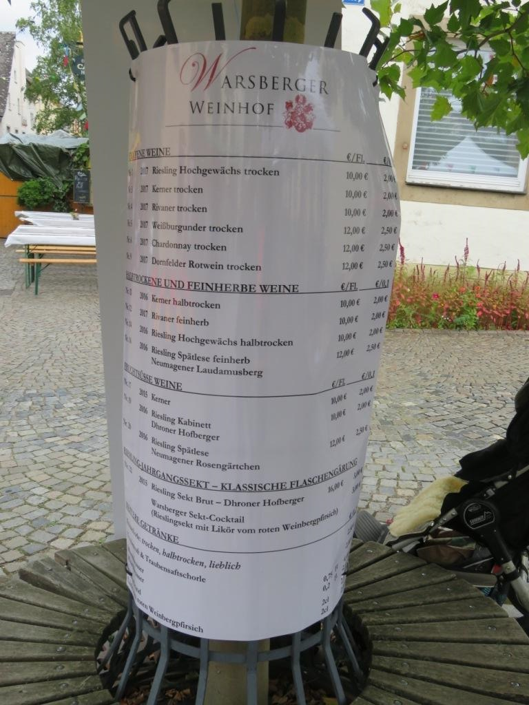 CARTE WARSBERGER WEINHAUS