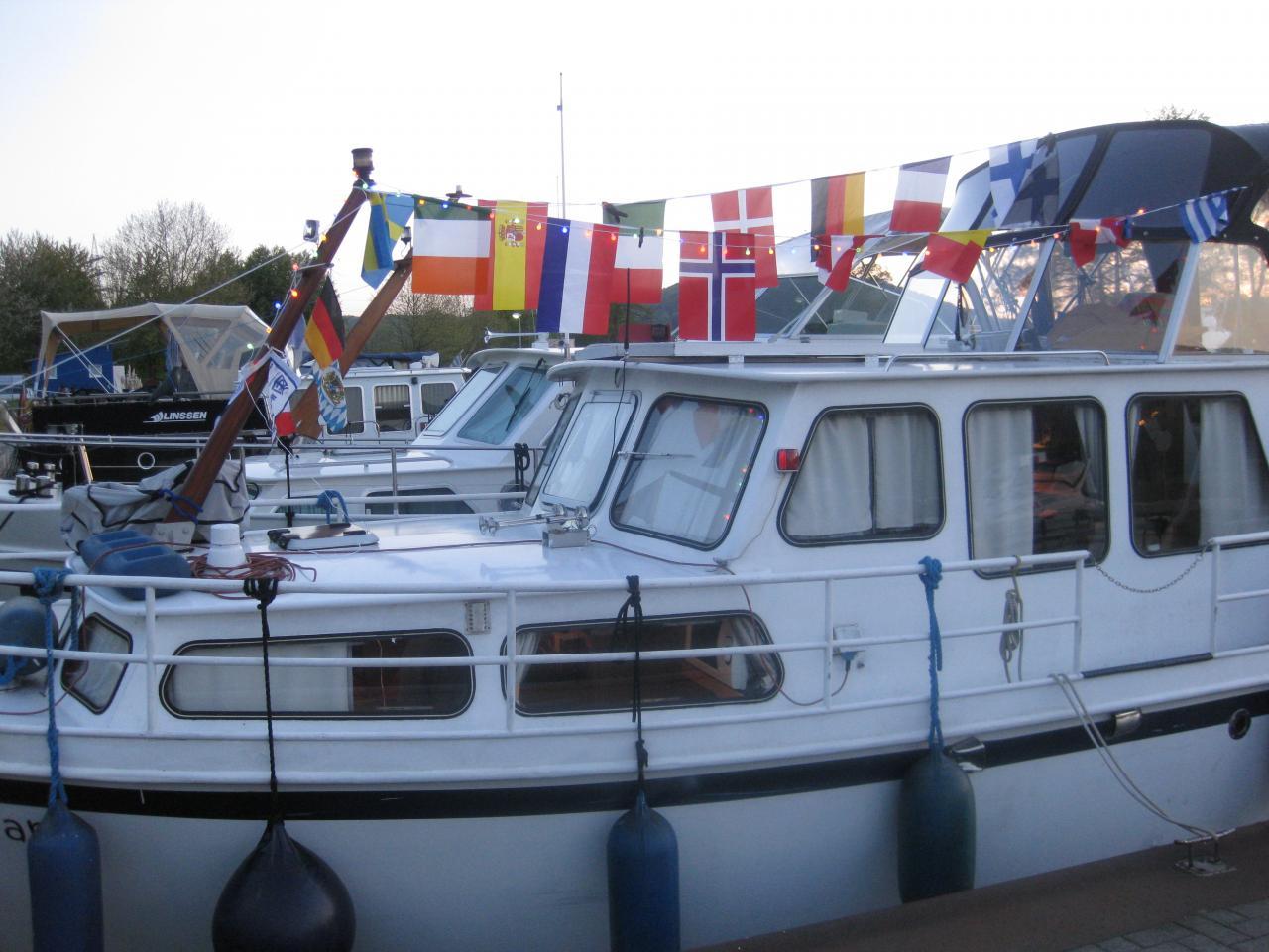 Notre bateau décoré pour l'occasion