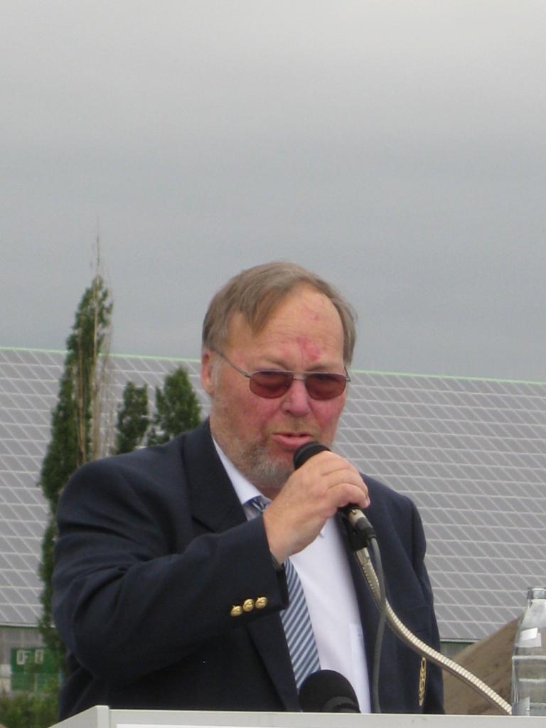 Fred, le Président de la Commission d'Anniversaire