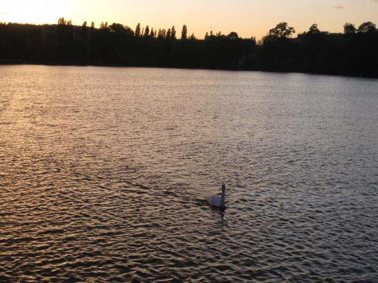 Vue sur le plan d'eau de Metz