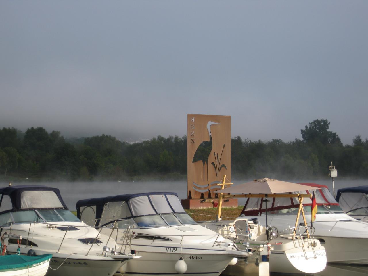 La Moselle dans le brouillard
